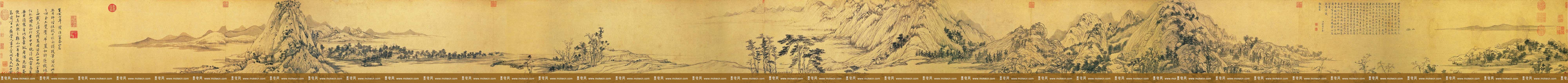 中国十大传世名画之《富春山居图》台北故宫博物院藏