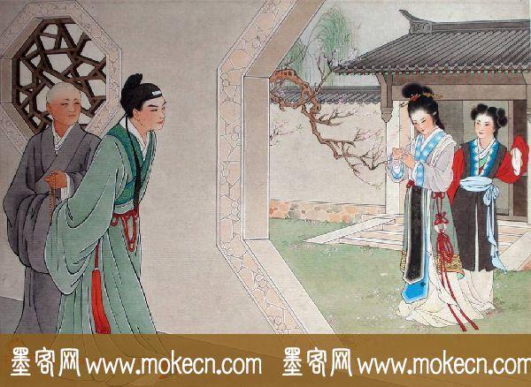 王叔晖绘画作品图册欣赏《西厢记》